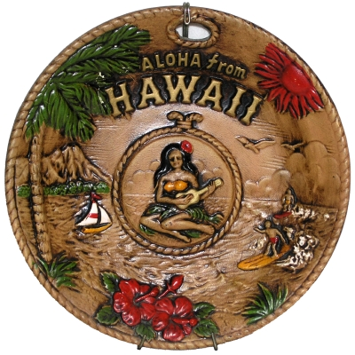 Aloha from Hawaii plate