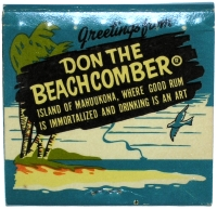 Matchbook cover for Don the Beachcomber restaurant