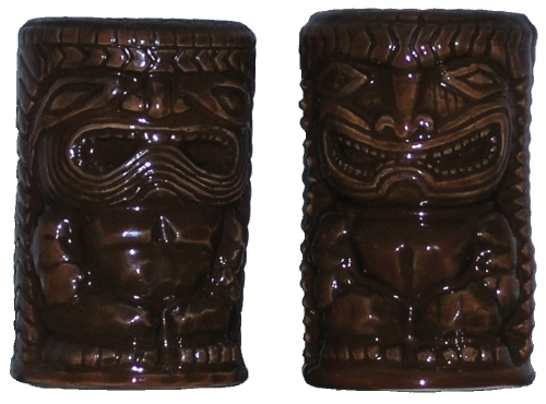 KC Co Ltd Tiki Salt and Pepper Shakers