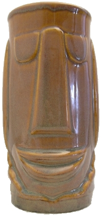Front view of brown Libbey Tonga mug