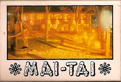 Matchbox from the Mai Tai restaurant