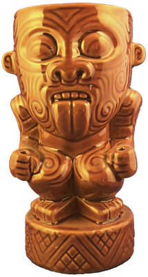 Munktiki Maori Brown Mug - front view