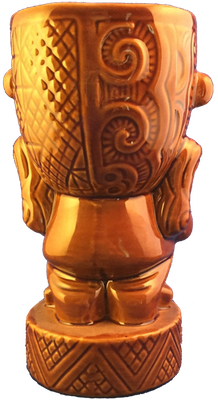 Munktiki Maori Brown Mug - rear view