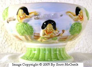 Orchids of Hawaii R-86 Compote bowl