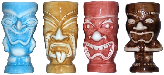 Pony Express Creations 16 Ounce Tiki Mugs
