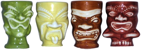 Pony Express Creations Tiki Shotglasses