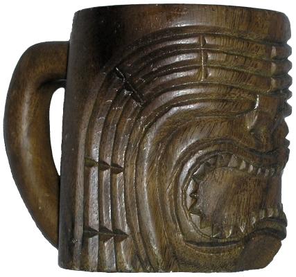 Slii Woods Monkeypod Tiki mug