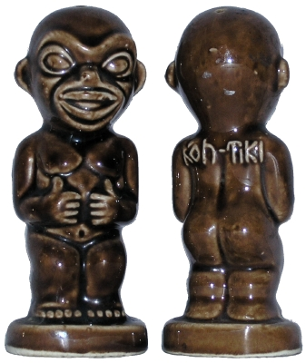 Steve Crane Kon-Tiki Salt and Pepper Shakers