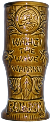 Ron Jon's Wahgi The Wave Warrior Mug - back view