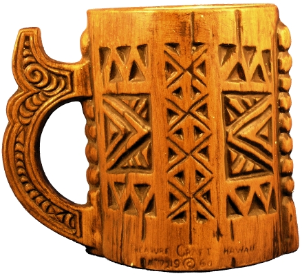 Back view of Treasure Craft Ki'i Mug