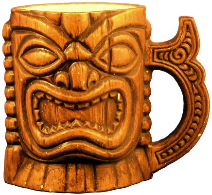 Front view of Treasure Craft Ki'i Mug