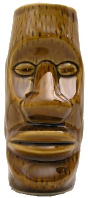 Brown Moai mug
