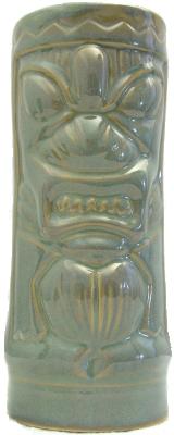 A green Tiki mug