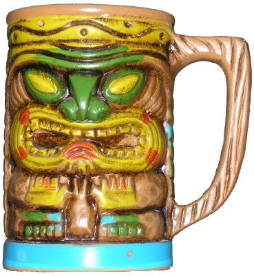 Multicolored Tiki mug