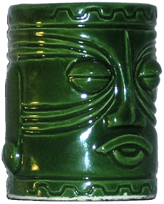 Green Westwood Tiki Toothpick Holder